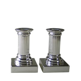 Set of 2 Candlesticks Empire 12 cm