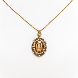 Medallion Marquise with Rhinestones
