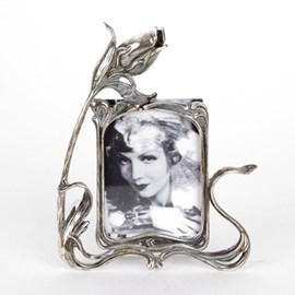 Silver plated photo frame Tulip