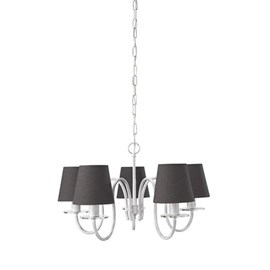 Chandelier with black or white shades