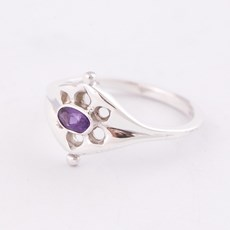 Ring Ancient Silver with Amethyst