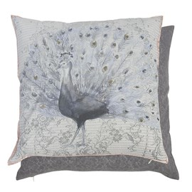Cushion Grey Peacock