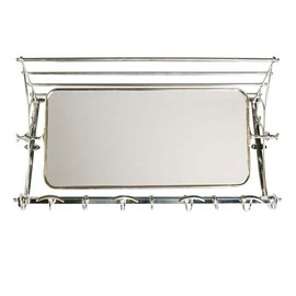 Coat Rack with Mirror