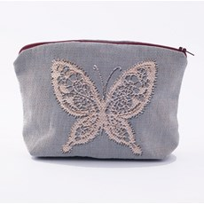 Small Purse Butterfly Lace Blue