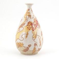 Jugendstil Vase Orange Clematis