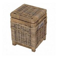 Rattan Paper Basket / Toilet Basket Grey
