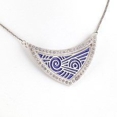 Queen Blue Enamel Necklace