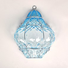 Venetian Wall Lamp Bellezza Aquamarine