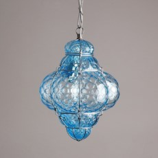 Venetian Hanging Lamp Small Bellezza Aquamarine
