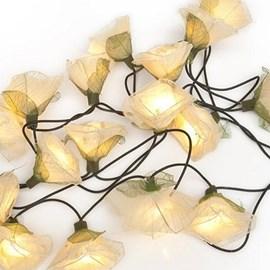 Light String White Roses