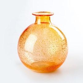 Orange! Globe Vase Bubble
