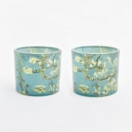 Set of 2 Tea-Light Holders Almond Blossom