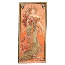 Tapestries Mucha 'The Four Seasons' in warm tones