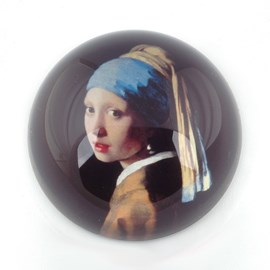 Paperweight Girl with a Pearl Earring