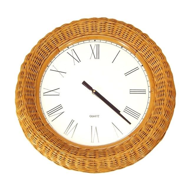 Wicker Clock Good Times