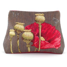 Large Toiletry Bag Poppies