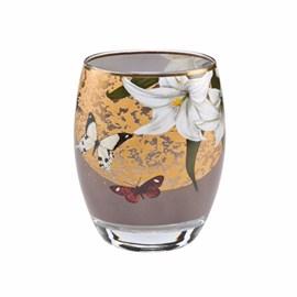 Tea-Light Lilies and Butterflies Grey