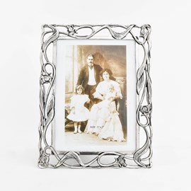 Silver-Plated Photo Frame Tulip