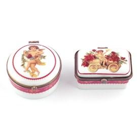 Set of 2 Porcelain Boxes