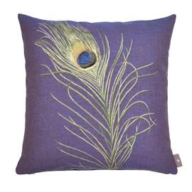 Cushion Peacock Feather   Purple