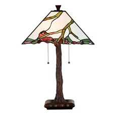 Tiffany Table Lamp Exotic Maple