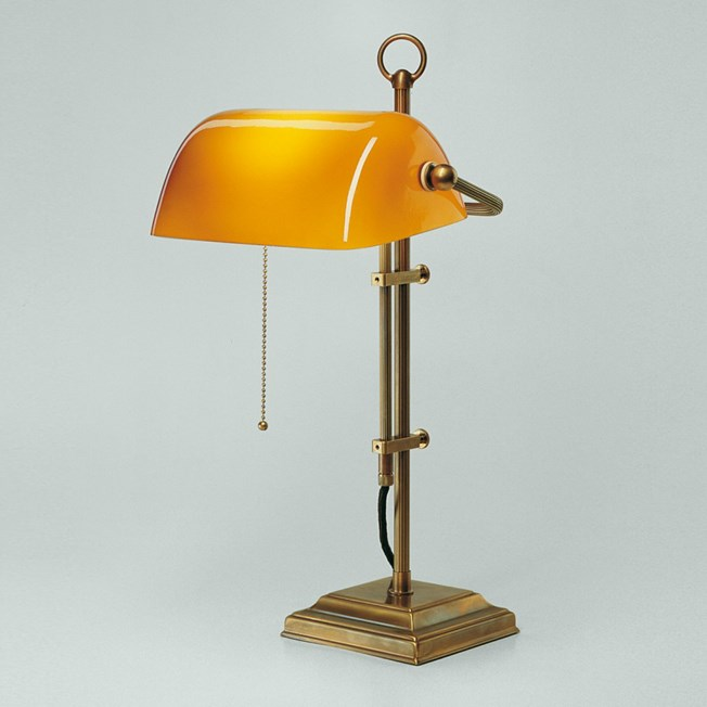 Banker Lamp Classic Square | Adjustable in height | Brass and Brandy