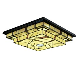 Tiffany LED Ceiling Lamp Mission Style