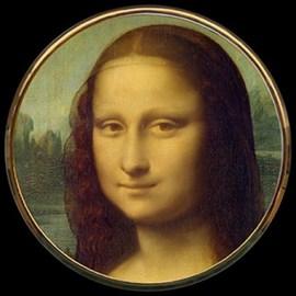 Compact Mirror Mona Lisa