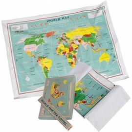 Kitchen Towel World Map