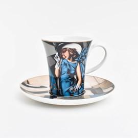 Espresso Cup and Saucer   Tamara de Lempicka