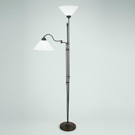 Floor Reading Lamp with Hinge and Uplighter | Cono