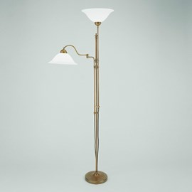 Floor Reading Lamp with Hinge and Uplighter | Hat