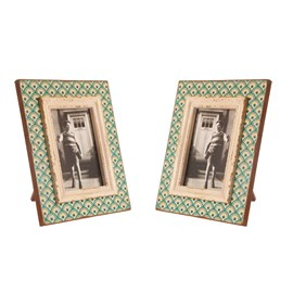 Set of 2 Photo Frames Boudoir