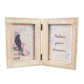 Double Picture Frame Rustic
