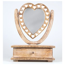 Table Mirror with drawer Love