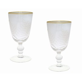 Set of 2 Wine Glasses Feuilles