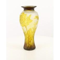 Art Nouveau Vase Yellow Dragonfly