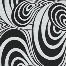Curtain fabric Vortex | Black and white