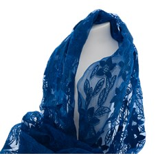 Scarf Blue Silk