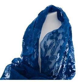 Scarf Blue Silk