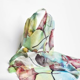 Silk Scarf Water Lilies