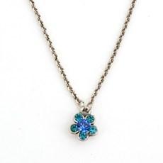 Necklace Blue Flower