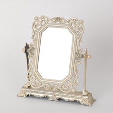 Small Beige Mirror Frivolous on Base