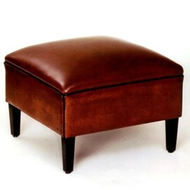 Footstool Sheepskin /  Cow-Skin or Fabric