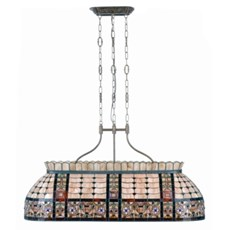 Tiffany Pool- / Dining Room Table Hanging Lamp Fairy