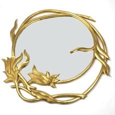 Wooden Art Nouveau Mirror Merveilleux Round