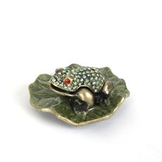 Jewellery Box Frog On A Leaf