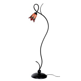 Floorlamp Tiffany Lovely Flower Red