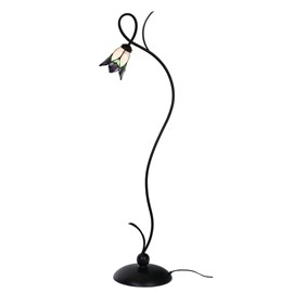 Floorlamp Tiffany Lovely Flower Purple
