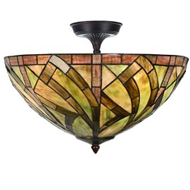Tiffany Elongated Ceiling Lamp Willow